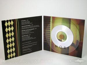 custom cd dvd disc clear substrate cork hub jacket