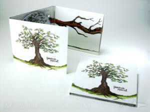 Uncoated Recycled Paper Matte Digipak Packaging Eco